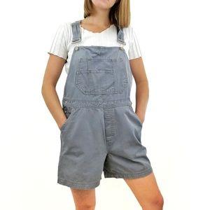 Vintage Billblass Jeans Grey Short Overalls Medium